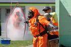 Fire crews spent the day decontaminating Camberley School after a mercury spill. PHOTO/WARREN BUCKLAND