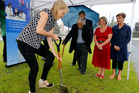 Associate Minister of Education, Nikki Kaye, turned the sod at Whangarei Girls' High School for a $6.8M classroom block at the school. PHOTO/JOHN STONE