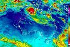 Cyclone Blanche menacing the Northern Territory.