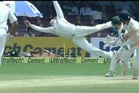 Aussie captain Steve Smith takes a screamer of a catch against India on Day Three of the second test. Photo/YouTube