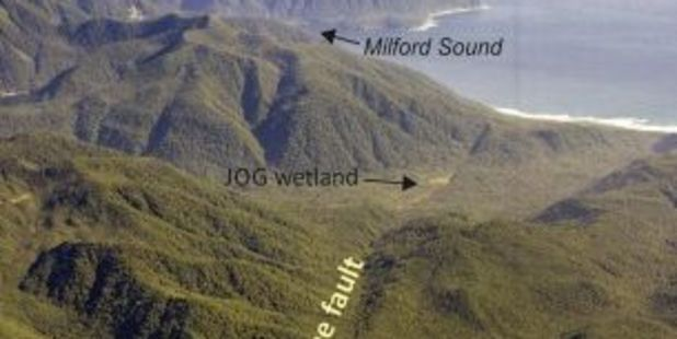 A new study has found that the interval between ruptures of the Alpine Fault is shorter than previously thought. Photo / Earth and Planetary Science Letters