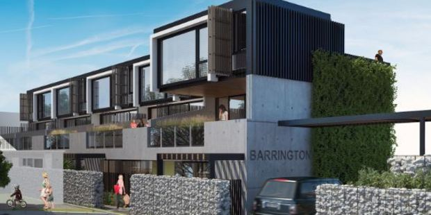 Another artist's impression of Grey Lynn's Barrington apartment complex.
