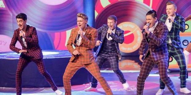 Let it Shine winners Five to Five perform live on the show. Photo / BBC1