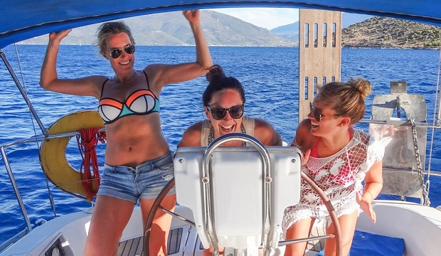 Three friends sail around the Ionian Islands, on what turned out to be the trip of a lifetime. Photo / Kate Mandeno and Imogen Ovens