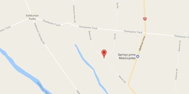 The man crashed into a power pole between Blands Rd and Thompsons Track on Sunday. Photo / Google Maps