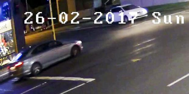 Loading The car sought by police after an attack on a woman. Photo supplied New Zealand police