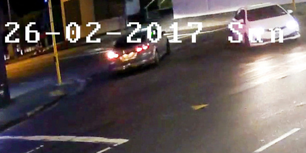The car sought by police after an attack on a woman. Photo/Supplied New Zealand police