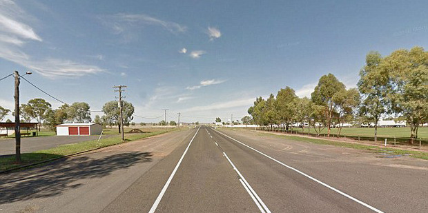 Police found the woman in a four-wheel drive on the Warrego Highway at Mitchell. Photo / Google Maps
