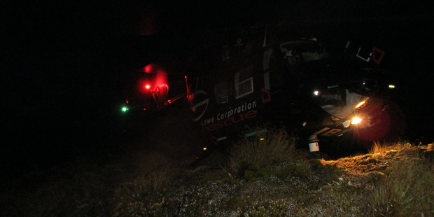 Two trampers were airlifted out of the Ruahine Corner Hut by helicopter last night. Photo supplied