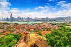 Xiamen scenery from Gulangyu Island.