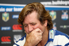 Bulldogs Head Coach Des Hasler during an after-match press conference. Photo/Photosport