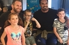 AB captain Kieran Read and fellow forward Jerome Kaino visited the Christchurch Cancer Foundation Family Place today