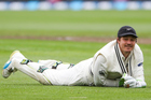 New Zealand's BJ Watling rues a dropped catch during New Zealand Black Caps v South Africa  first test. Photo/Photosport