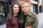 Ed Sheeran's hair took on a life of its own in this fan photo shared on Twitter. Photo / @taliacalandra
