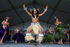 Avondale College perform the Cook Island hula at the Polyfest. Photo / Dean Wilson