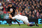 Dan Carter playing for the All Blacks against England. Photo / Photosport