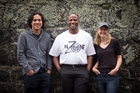 In Zoner Curt Manukia, founder Terrance Wallace and doco-maker Robyn Paterson. Photo / Dean Purcell