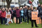 Dunedin workers rallied on Saturday to protest the closure of the chocolate factory.