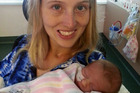 Nicole Crawford endured five rounds of IVF before she conceived baby Reagan. Photo / Caters News Agency