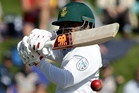 Temba Bavuma helped take the game away from New Zealand. Photo / AP