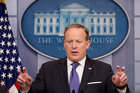 White House press secretary Sean Spicer speaks during the daily press briefing at the White House in Washington. Photo / AP