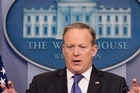 """In the video Chauhan posted on Twitter, she can be heard asking Spicer, """"How does it feel to work for a fascist?"""""""
