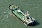 The Aris 13 oil tanker is seen from a helicopter in the harbor of Gladstone, Australia, in 2014. Pirates have hijacked the Aris 13 oil tanker off the coast of Somalia. Photo / AP file