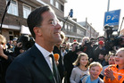 Dutch Prime Minister Mark Rutte after casting his vote for the Dutch general election in The Hague. Photo / AP