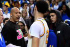 LaVar Ball (left) says his son Lonzo (right) is better than Stephen Curry. Photo / AP