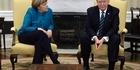 Watch: Watch: Trump blanks Merkel