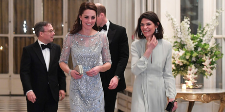 The Duchess of Cambridge had opted for three costume changes in a matter of hours. Photo / AP