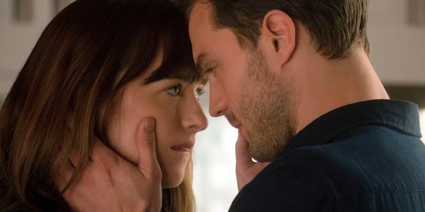 Dakota Johnson and Jamie Dornan in Fifty Shades Darker. Photo / AP