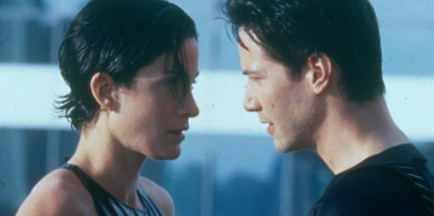 Keanu Reeves and Carrie-Anne Moss in a scene from the film The Matrix. A reboot could be in the works.