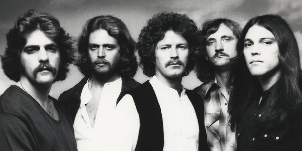 The Eagles 1977 line up: Glenn Frey, Don Felder, Don Henley, Joe Walsh, Timothy B. Schmit.