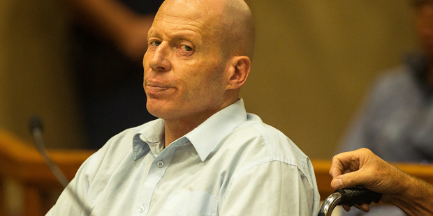 Russell John Tully on trial for the murder of two Work and Income workers in Ashburton in 2014. Photo / Joseph Johnson