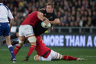 All Blacks loose forward Sam Cane in action against Wales during a June test. Photo / Brett Phibbs
