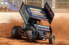 Former New Zealand sprint car champion Jamie McDonald was a visitor to Baypark speedway on Saturday for the season's first practice. Photo / Stuart Whitaker