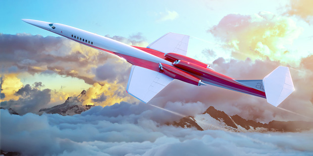 Commercial planes that travel at supersonic speeds, like the Aerion AS2, are inches away from reality. Photo / Aerion Corp