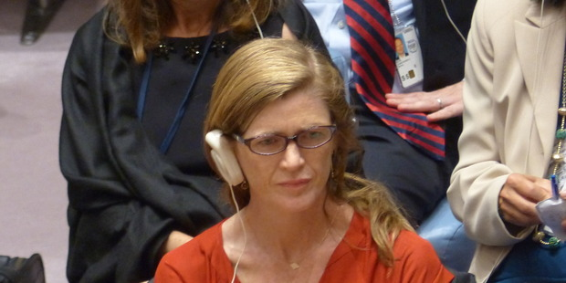 Former US ambassador to the UN Samantha Power.