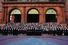 The New Zealand Commonwealth Games team in Glasgow in 2014. Photo / Getty