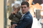 Michael Buble and his son Noah who has undergone cancer treatment. Photo / Getty