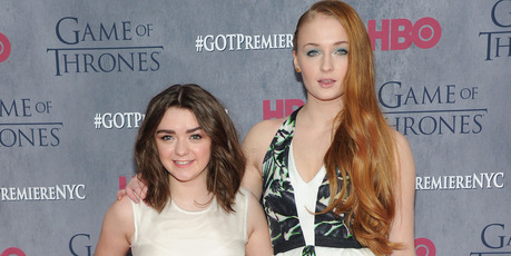 Actress Maisie Williams and actress Sophie Turner attend the Game Of Thrones Season 4 premiere. Photo / Getty