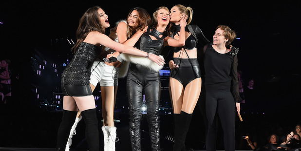 Singer/songwriter Taylor Swift and her girl squad - Hailee Steinfeld, Gigi Hadid, Lily Aldridge and Lena Dunham. Photo / Getty