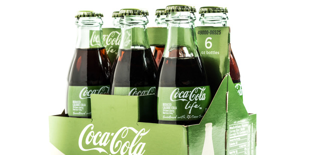 Coke Life claims to be all natural yet it still contains a lot of sugar. Photo / Getty