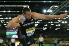 Tom Walsh competes in the IAAF World Indoor Championships at Portland. Photo / Getty Images