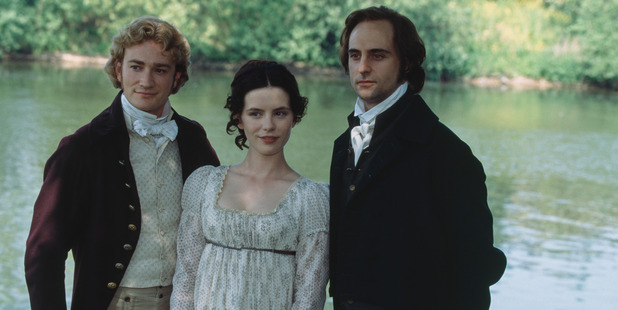 English actors Raymond Coulthard, Kate Beckinsale, and Mark Strong during production of the TV film adaptation of Jane Austen's 'Emma.' Photo / Getty