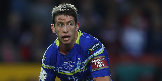 Kurt Gidley in action for Warrington in the UK Super League. Photo / Getty Images.