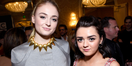 Actors Sophie Turner (L) and Maisie Williams are best friends in real life. Photo / Getty
