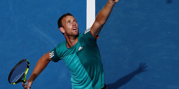 Michael Venus in action during the ASB Classic. Photo / Getty Images