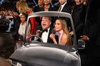 Host James Corden's carpool karaoke during The 59th GRAMMY Awards. Photo / Getty